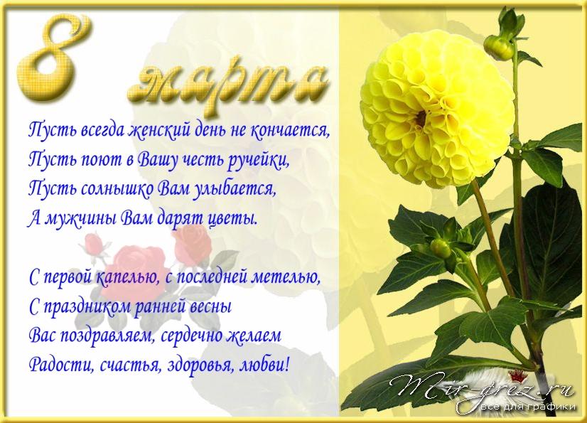 Поздравления в стихах 8 марта в стихах
